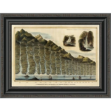 East Urban Home 'Length of the Rivers of Scotland; 1832' Framed Print; 39'' H x 20'' W x 1.5'' D