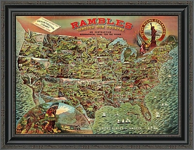 East Urban Home 'Rambles Through Our Country; 1886' Framed Print; 20'' H x 26'' W x 1.5'' D