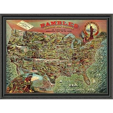 East Urban Home 'Rambles Through Our Country; 1886' Framed Print; 34'' H x 40'' W x 1.5'' D