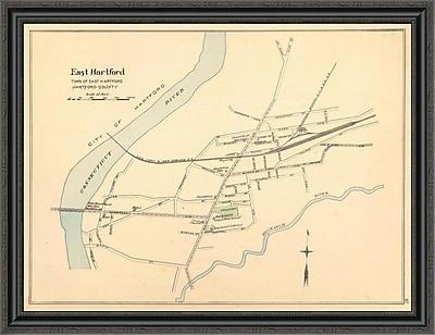East Urban Home 'East Hartford; Connecticut; 1893' Framed Print; 26'' H x 40'' W x 1.5'' D
