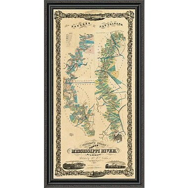 East Urban Home 'Chart of the Lower Mississippi River; 1858' Framed Print; 30'' H x 23'' W x 1.5'' D