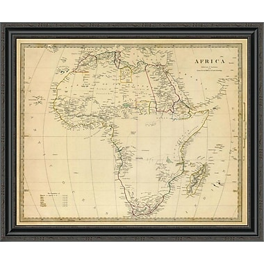 East Urban Home 'Africa; 1839' Framed Print; 26'' H x 34'' W x 1.5'' D