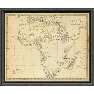 East Urban Home 'Africa; 1839' Framed Print; 40'' H x 44'' W x 1.5'' D