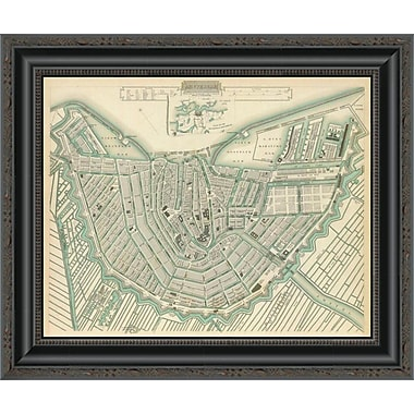 East Urban Home 'Amsterdam; Netherlands; 1835' Framed Print; 20'' H x 20'' W x 1.5'' D