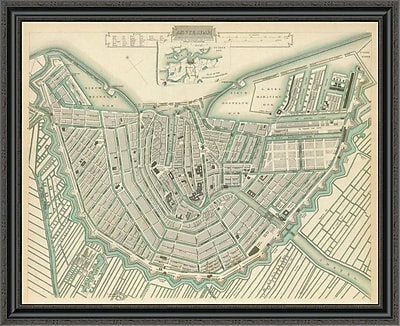 East Urban Home 'Amsterdam; Netherlands; 1835' Framed Print; 40'' H x 40'' W x 1.5'' D