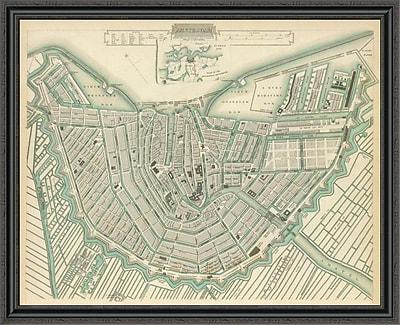 East Urban Home 'Amsterdam; Netherlands; 1835' Framed Print; 44'' H x 44'' W x 1.5'' D