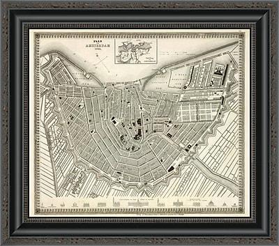 East Urban Home 'Amsterdam; Netherlands; 1844' Framed Print; 17'' H x 20'' W x 1.5'' D
