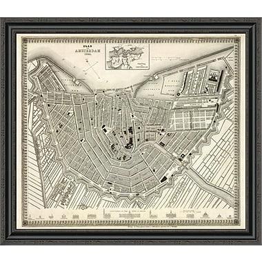 East Urban Home 'Amsterdam; Netherlands; 1844' Framed Print; 28'' H x 34'' W x 1.5'' D
