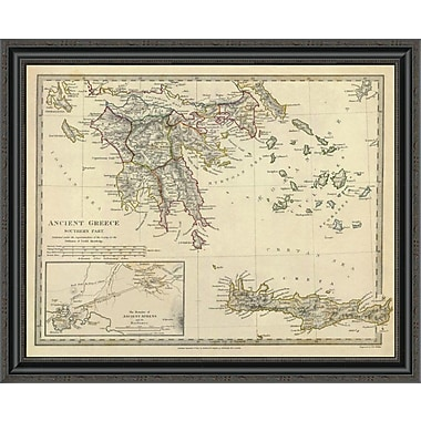 East Urban Home 'Ancient Greece; Southern; 1829' Framed Print; 23'' H x 34'' W x 1.5'' D