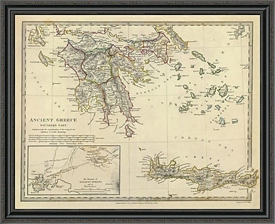 East Urban Home 'Ancient Greece; Southern; 1829' Framed Print; 28'' H x 40'' W x 1.5'' D