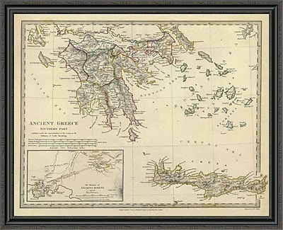 East Urban Home 'Ancient Greece; Southern; 1829' Framed Print; 35'' H x 44'' W x 1.5'' D