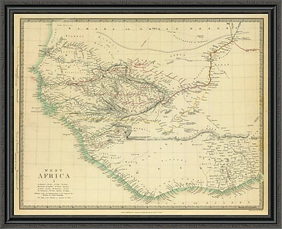 East Urban Home 'West Africa I; 1839' Framed Print; 28'' H x 44'' W x 1.5'' D