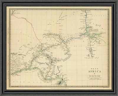 East Urban Home 'West Africa II; 1839' Framed Print; 29'' H x 40'' W x 1.5'' D