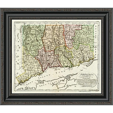 East Urban Home 'Connecticut; 1796' Framed Print; 37'' H x 20'' W x 1.5'' D