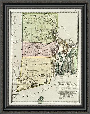 East Urban Home 'Rhode Island; 1797' Framed Print; 17'' H x 20'' W x 1.5'' D