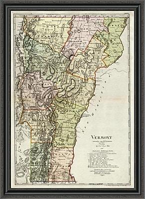 East Urban Home 'Vermont; 1797' Framed Print; 40'' H x 29'' W x 1.5'' D