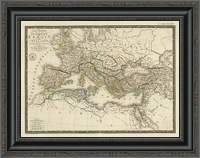 East Urban Home 'Empire Romain Sous Constantin; 1822' Framed Print; 20'' H x 20'' W x 1.5'' D