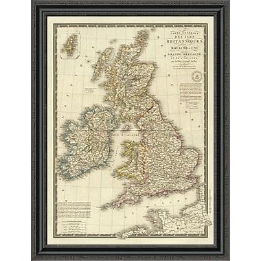 East Urban Home 'Iles Britanniques; 1828' Framed Print; 26'' H x 26'' W x 1.5'' D