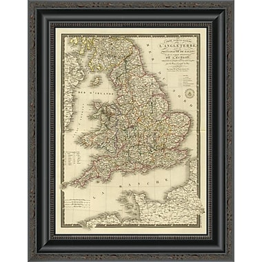 East Urban Home 'Angleterre; Galles; 1827' Framed Print; 16'' H x 16'' W x 1.5'' D