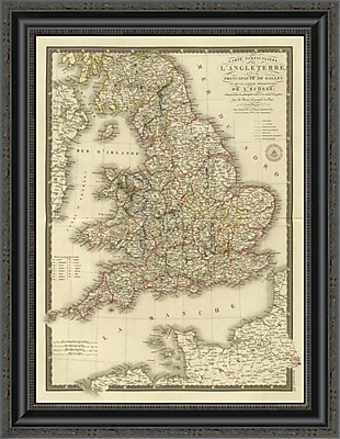 East Urban Home 'Angleterre; Galles; 1827' Framed Print; 20'' H x 20'' W x 1.5'' D