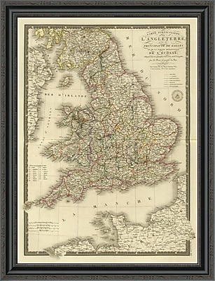 East Urban Home 'Angleterre; Galles; 1827' Framed Print; 26'' H x 26'' W x 1.5'' D