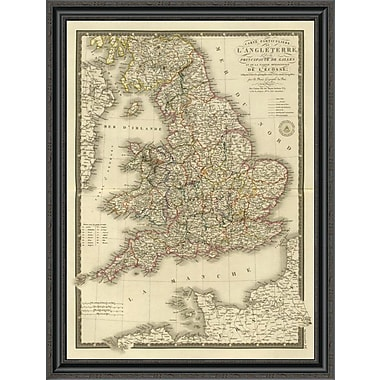 East Urban Home 'Angleterre; Galles; 1827' Framed Print; 30'' H x 30'' W x 1.5'' D