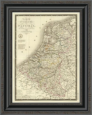 East Urban Home 'Pays-Bas; 1821' Framed Print; 16'' H x 16'' W x 1.5'' D