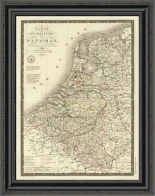 East Urban Home 'Pays-Bas; 1821' Framed Print; 20'' H x 20'' W x 1.5'' D