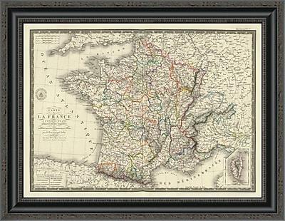 East Urban Home 'France a L'Epoque De 1789' Framed Print; 26'' H x 26'' W x 1.5'' D