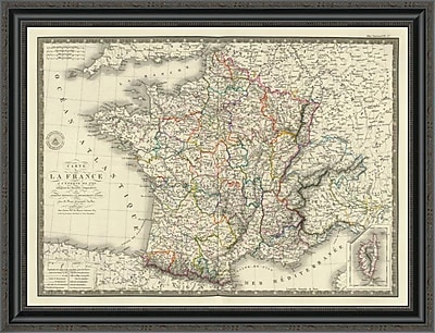 East Urban Home 'France a L'Epoque De 1789' Framed Print; 34'' H x 34'' W x 1.5'' D