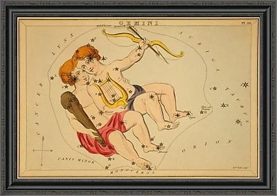 East Urban Home 'Gemini; 1825' Framed Print; 28'' H x 34'' W x 1.5'' D