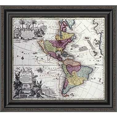 East Urban Home 'Atlas Geographicus' Framed Print; 18'' H x 20'' W x 1.5'' D