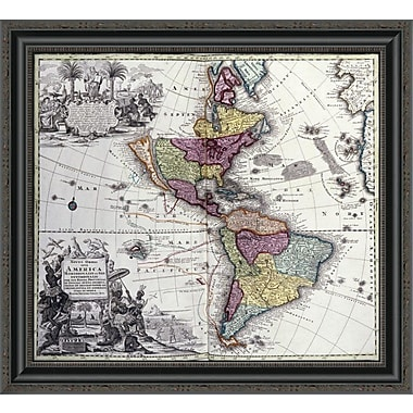 East Urban Home 'Atlas Geographicus' Framed Print; 24'' H x 26'' W x 1.5'' D