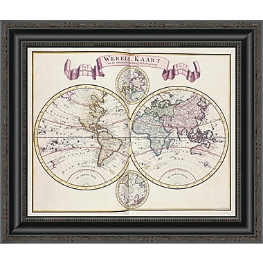 East Urban Home 'Nieue Hand-Atlas' Framed Print; 17'' H x 20'' W x 1.5'' D