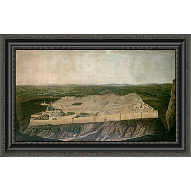 East Urban Home 'A Panoramic View of Jerusalem' Framed Print; 17'' H x 26'' W x 1.5'' D