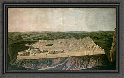 East Urban Home 'A Panoramic View of Jerusalem' Framed Print; 21'' H x 34'' W x 1.5'' D