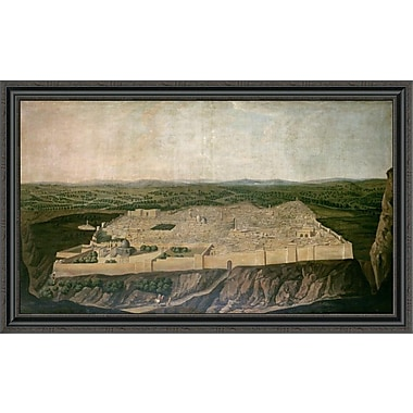 East Urban Home 'A Panoramic View of Jerusalem' Framed Print; 27'' H x 44'' W x 1.5'' D