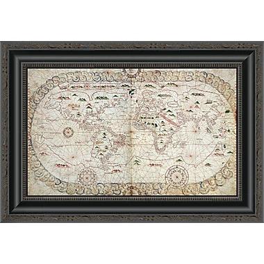 East Urban Home 'Portolan Atlas of the World' Framed Print; 14'' H x 20'' W x 1.5'' D