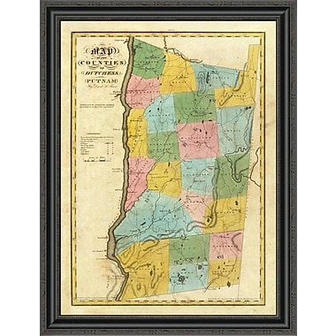 East Urban Home 'New York - Dutchess; Putnam Counties; 1829' Framed Print; 21'' H x 26'' W x 1.5'' D