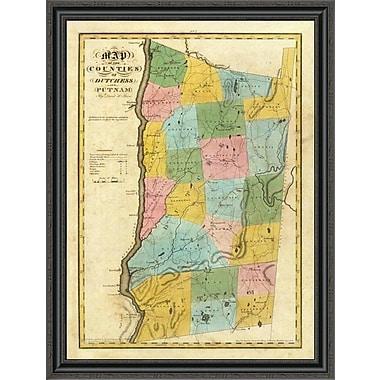 East Urban Home 'New York - Dutchess; Putnam Counties; 1829' Framed Print; 27'' H x 30'' W x 1.5'' D