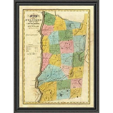 East Urban Home 'New York - Dutchess; Putnam Counties; 1829' Framed Print; 31'' H x 33'' W x 1.5'' D