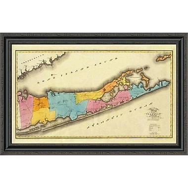 East Urban Home 'New York - Suffolk County; 1829' Framed Print; 34'' H x 34'' W x 1.5'' D