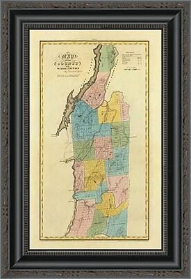 East Urban Home 'New York - Washington County; 1829' Framed Print; 20'' H x 14'' W x 1.5'' D