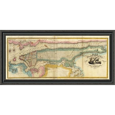 East Urban Home 'New York City & County; 1832' Framed Print; 40'' H x 44'' W x 1.5'' D