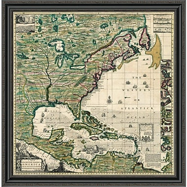 East Urban Home 'America Septentrionalis a Map of the British Empire in America; 1733' Framed Print