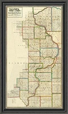 East Urban Home 'Iowa; 1838' Framed Print; 40'' H x 26'' W x 1.5'' D