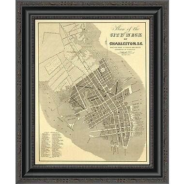East Urban Home 'Charleston; South Carolina; 1844' Framed Print; 44'' H x 17'' W x 1.5'' D