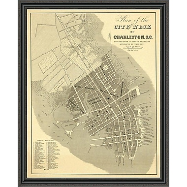 East Urban Home 'Charleston; South Carolina; 1844' Framed Print; 44'' H x 36'' W x 1.5'' D
