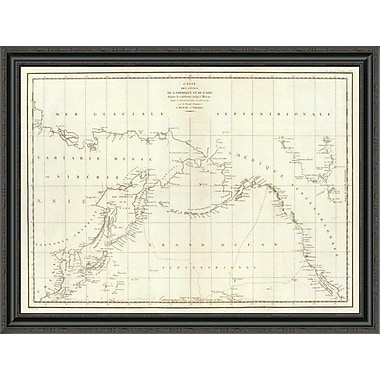 East Urban Home 'Cotes; L'Amerique; L'Asie; 1797' Framed Print; 26'' H x 40'' W x 1.5'' D