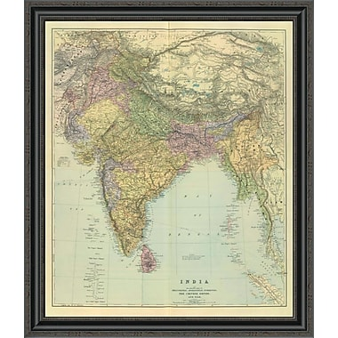 East Urban Home 'Composite: India; 1901' Framed Print; 26'' H x 29'' W x 1.5'' D